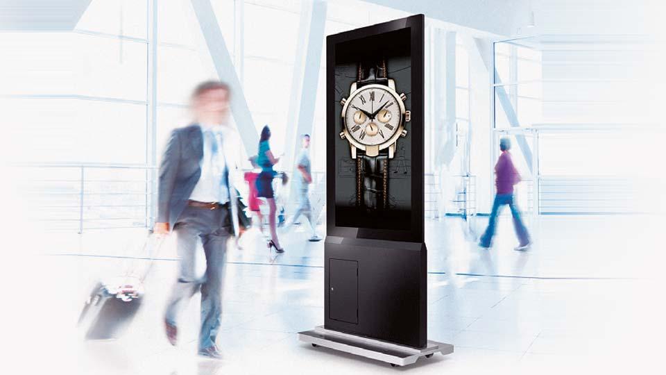 Großformatige Displays für Werbeanwendungen