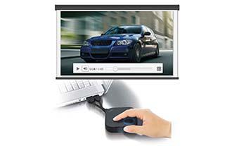 """Sie wechseln den Video-Modus durch einen Druck auf den kleinen Button """"Modus"""" an der Seite des HDMI-Buttons"""