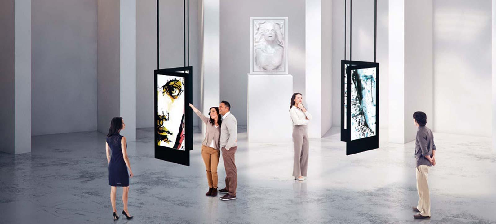 Professionelle Displays im Großformat sind vielfältig einsetzbar